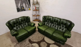 Chesterfield 3&2 Seater High Wing Back Sofa Set