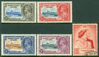 EDW1949SELL : GILBERT 1935-48 Scott #33-36 VF MOG Also #55 VF, Used. Catalog $63