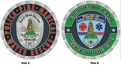 Bald Head Island Public Safety Police Fire Department Patch Badge Challenge Coin
