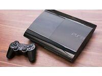 SALE!!PS3 SUPER SLIM 12GB + 2 CONTROLLERS+ 200GB HARD DRIVE + GTA V + FIFA 16 + FIFA STREET