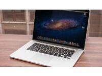 "Apple MacBook Pro Retina Late 2013 15"" 256GB SSD 2.0GHz i7 quad core. 8GB ram."