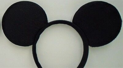 Mickey Mouse Black Classic Ears Headband  Happy Birthday Party Favor Costume - Black Birthday Party Hats