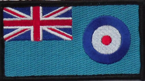 Royal Air Force Ensign Iron or sew on patch - HM Forces RAF Ensign badge