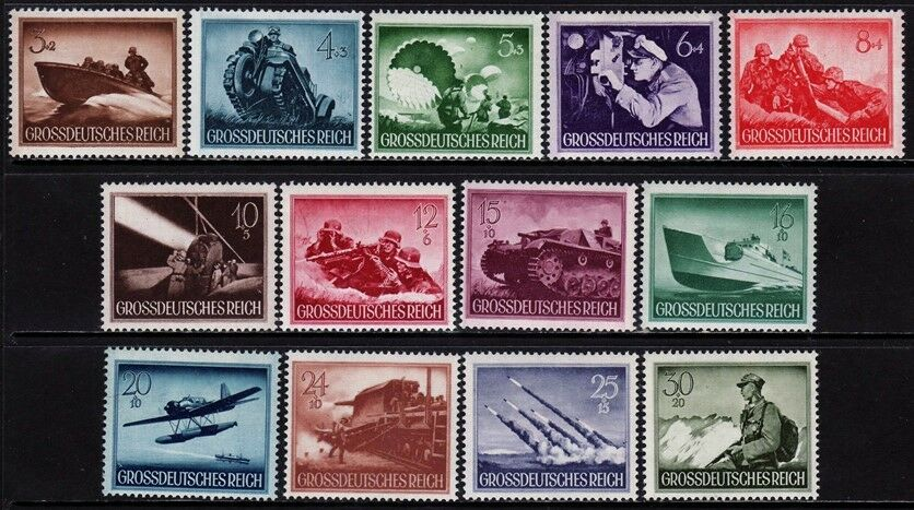 Купить THIRD REICH 1944 mint never hinged Warmachines stamp set!