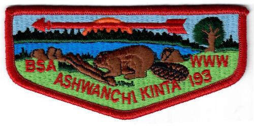 Order of the Arrow (OA) Flap Lodge 193 Ashwanchi Kinta S8 pb