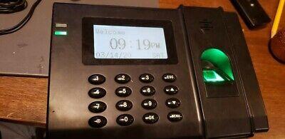 Paychex Fingerprint Biometric Attendance H0201 Z24 Time Clock W Ac Adapter