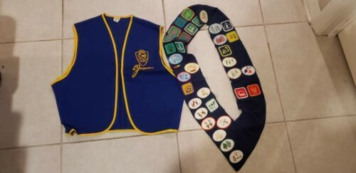 Jaycees Vest Mims Scottsmoor Brevard County Florida Large Patches Vintage