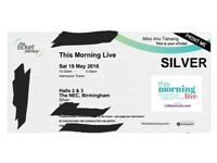 2 X SILVER tickets This Morning Live Tickets 19th May NEC Birmingham Eamonn Holmes & Ruth Langsford
