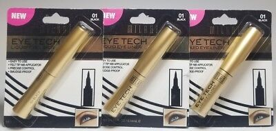 Lot Of 3 Milani Eye Tech Felt Tip Liquid Eye Liner  01 Black