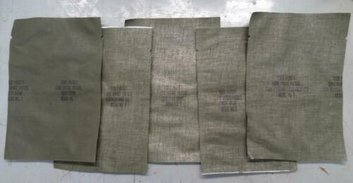 5 DIFFERENT UNUSED VIETNAM WAR ERA LRP FOOD BAGS #EQ494