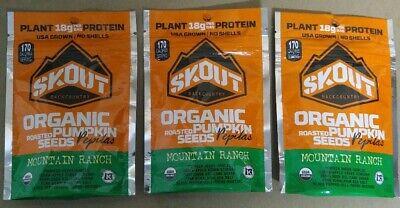 Organic Ranch - Skout Backcountry Organic Roasted Pumpkin Seeds Mountain Ranch 2.2oz(lot of 3)