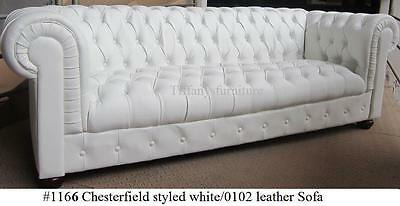 Gorgeous Chesterfield Style Modern White or black PU Leather Sofa #1166