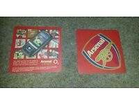 Pack of 4 double sided Arsenal Football Club collectables beer mats/coasters