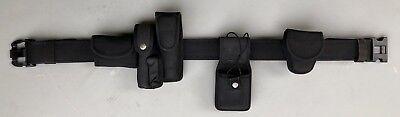 Bianchi Black Nylon Duty Belt 2-14 Wtriple Release Polymer Buckle Wextras