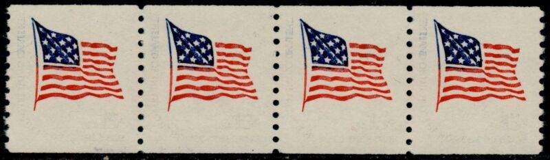 "#1618cf  ""flag"" Strip Of 4, Gray Omitted Major Error Bq5137"
