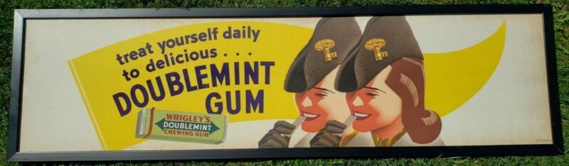 OTIS SHEPARD (1894-1969) TREAT YOURSELF DAILY TO DELICIOUS DOUBLEMINT GUM SIGN
