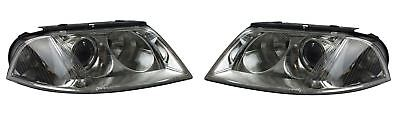 VW Passat B5.5 2000-2005 Chrome Headlight Headlamp Pair Left & Right