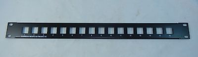 Superior Unloaded 16 Port Blank Media Patch Panel 1U Rack Mount NEW in Box