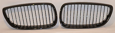 BMW E92 E93 3 Series Coupe Cabriolet 2006-2010 Gloss Black Kidney Grill Grille