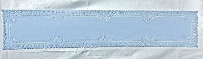 Blue Heritage Lace Artistry 13.5 x 70 Table Runner Diningroom Livingroom Bedroom (Blue Lace Table Runner)