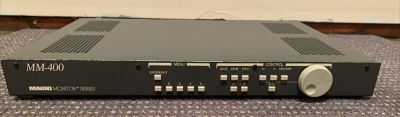Magni MM-400 Waveform/Vector Monitor Combo Rasterizer NTSC/PAL Format UNTESTED