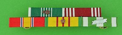 5 Ribbon Bar - Vietnam War -  Army Commendation - Bronze Campaign Star