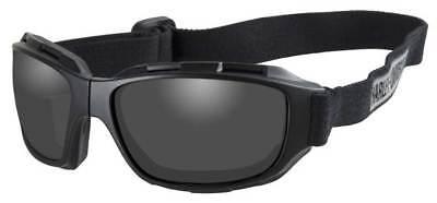 Harley-Davidson Men's Bend Gray Lens Goggles, Collapsible Black Frames HABEN01