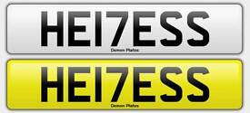 Private 17 plate registration plate Heiress