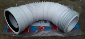 MCALPINE WC-F26R Flexible WC Toilet Pan Connector £10! 170-410 mm READY TO INSTALL! BARGAIN!