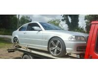 "Breaking bmw e46 330ci coupe 18"" m6 alloys black leather ect...."