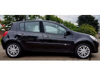 """2008 [58] RENAULT CLIO DYNAMIQUE 1.5 DCI 5 DR BLACK """"£30 ROAD TAX-1 YEARS MOT- PART EXCHANGE WELCOME"""