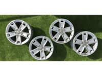 "17"" set Genuine AUDI alloy wheels pcd 5x112 Audi, Caddy , Golf"