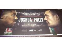 2x FLOOR Anthony Joshua vs Kubrat Pulev tickets
