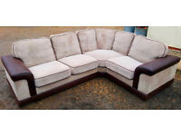 Corner Sofa Brown. Can deliver