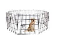 Pet Dog Pen Puppy Cat Rabbit Foldable Playpen Indoor/Outdoor Enclosure Run Cage (Small: Height 61cm)