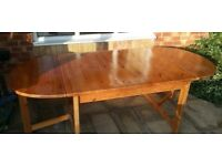 Solid Pine Drop Leaf Table, Dining Table. Large.