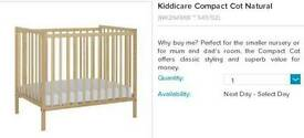 Kiddicare Cot with Mattress