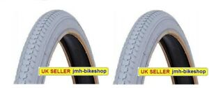 1 pair 24  x 1 3/8 Grey Wheelchair Tyres 37-540 Pneumatic Inflatable 24
