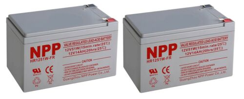NPP HR1251W 12V 51W (15min.rate/ 1.67V/ Cell) Rechargeable  Battery  F2 / (2pcs)