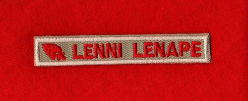 LENNI LENAPE Boy Scout OA Order of Arrow Uniform Interpreter Strip Patch KHAKI