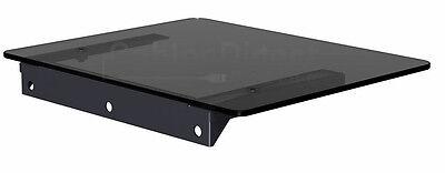 Floating Black Glass Shelf Wall Mount Bracket Under TV Stand Box DVR DVD XBOX