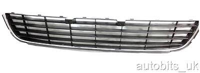 VW GOLF MK6 VI 2008-2013 FRONT CENTER BUMPER GRILLE CHROME BRAND NEW