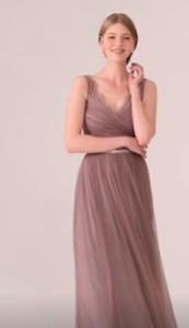 Lavender floor-length bridesmaid dress (size 6, worn once)