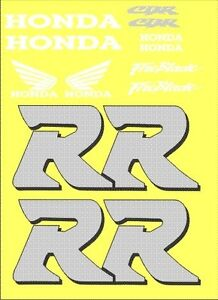 CBR 250RR vinyl decal kit with Large RR's