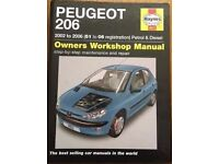 Haynes Workshop Manual for Peugeot 206 2002 - 2006 in good condition