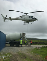 Concrete Delivery by Helicopter - Heli Muskoka
