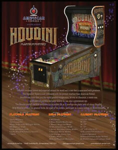 HOUDINI PINBALL - Proudly distributed by NITRO!