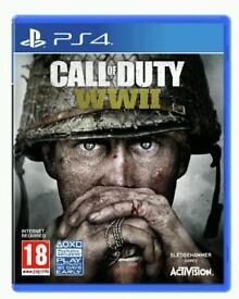 Call of duty ww2 brand new sealed wwii ps4