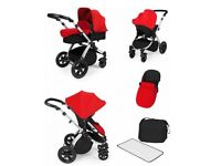 BRAND NEW Ickle Bubba Stomp V2 All In One Travel System (Red)