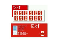 NEW Royal Mail Stamps FIRST 1st CLASS Book of 12 x 50 UK Postage